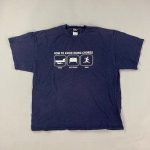 Vintage 90s super funny avoid chores shirt